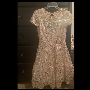 Pink Sequins Glitter Homecoming/Prom Dress